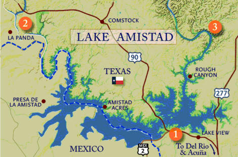 Lake amistad fishing guide amistad bass fishing guide lake for Mexican fishing license